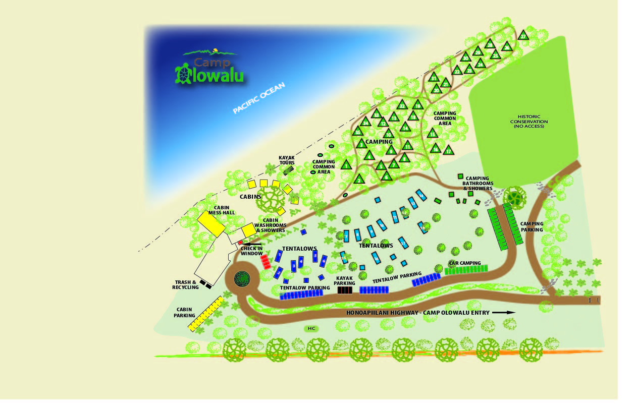 Camp Website Map