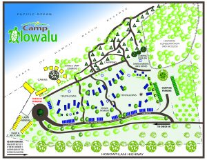 Camp Olowalu Campground Map
